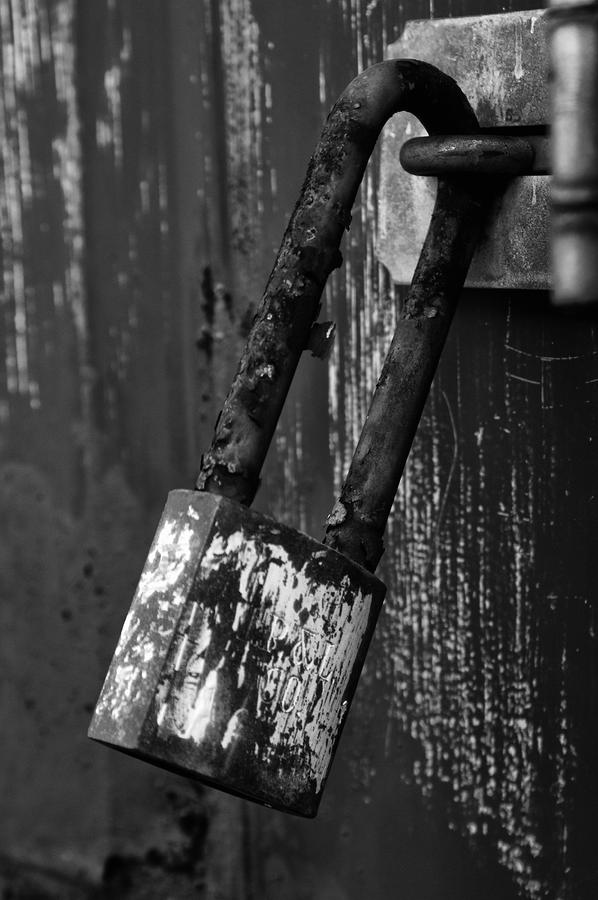 Under Lock And Key II Photograph  - Under Lock And Key II Fine Art Print