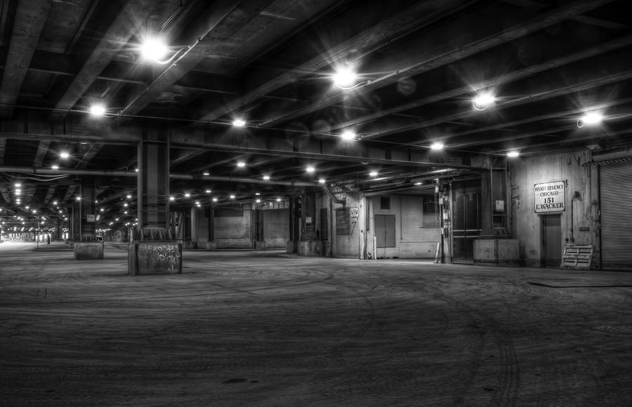 under lower Wacker Photograph  - under lower Wacker Fine Art Print