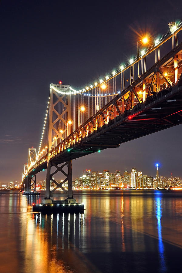 Under The Bay Bridge Photograph  - Under The Bay Bridge Fine Art Print