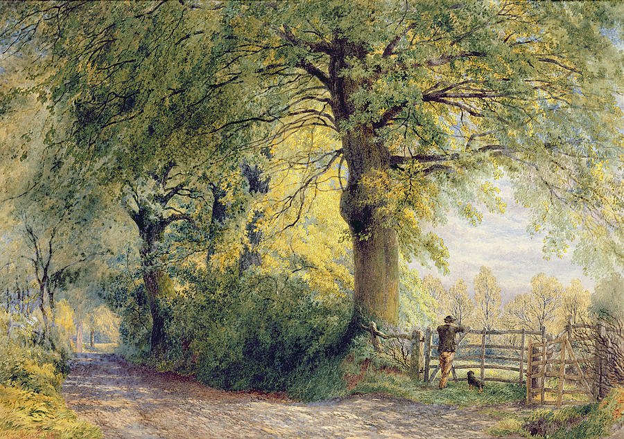 Under The Beeches Painting