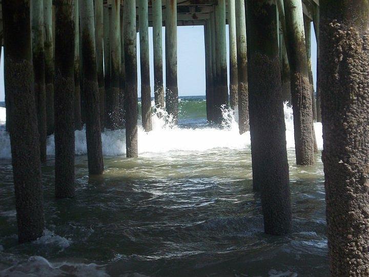 Beach Photograph - Under The Board Walk by Jose  Ortiz