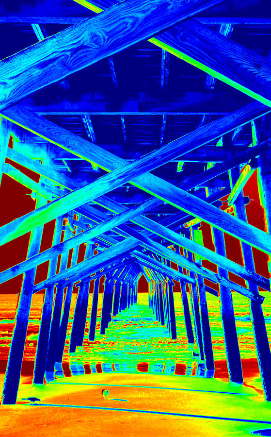 Under The Boardwalk Painting  - Under The Boardwalk Fine Art Print