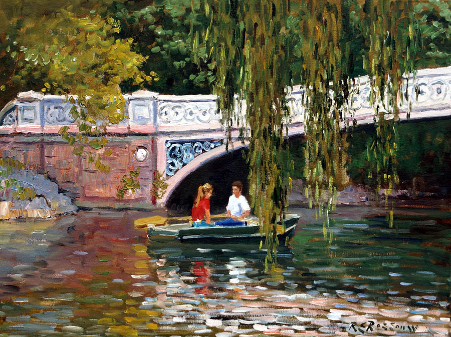 Under The Bow Bridge Central Park Painting