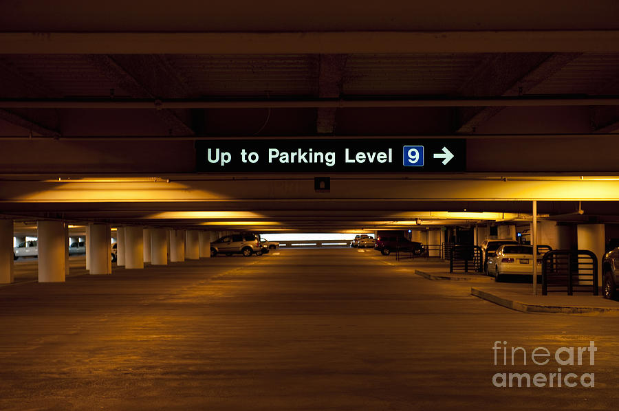 Underground Parking Lot Photograph By Dave Les Jacobs