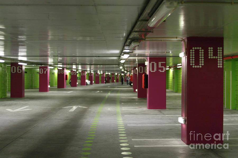 Underground Parking Lot Photograph