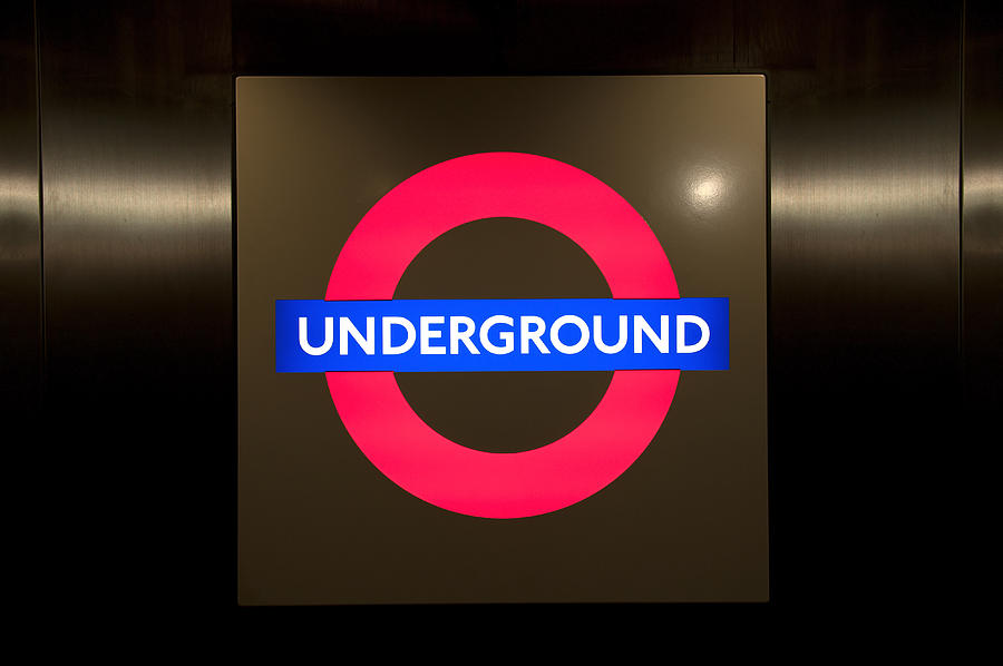 Underground Sign Photograph  - Underground Sign Fine Art Print