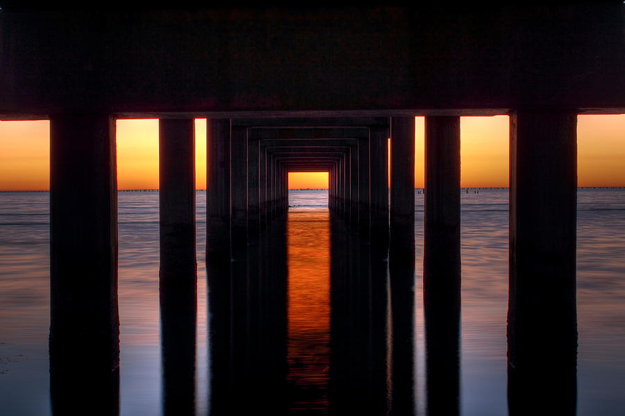 Underside Of The Pier Photograph  - Underside Of The Pier Fine Art Print