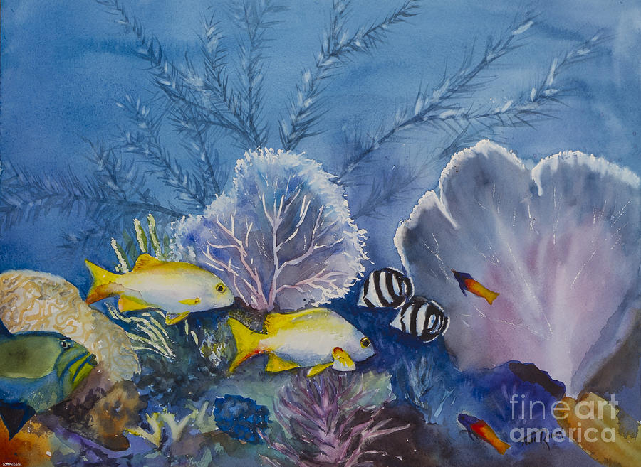 Underwater Dance Painting by Toni Roark