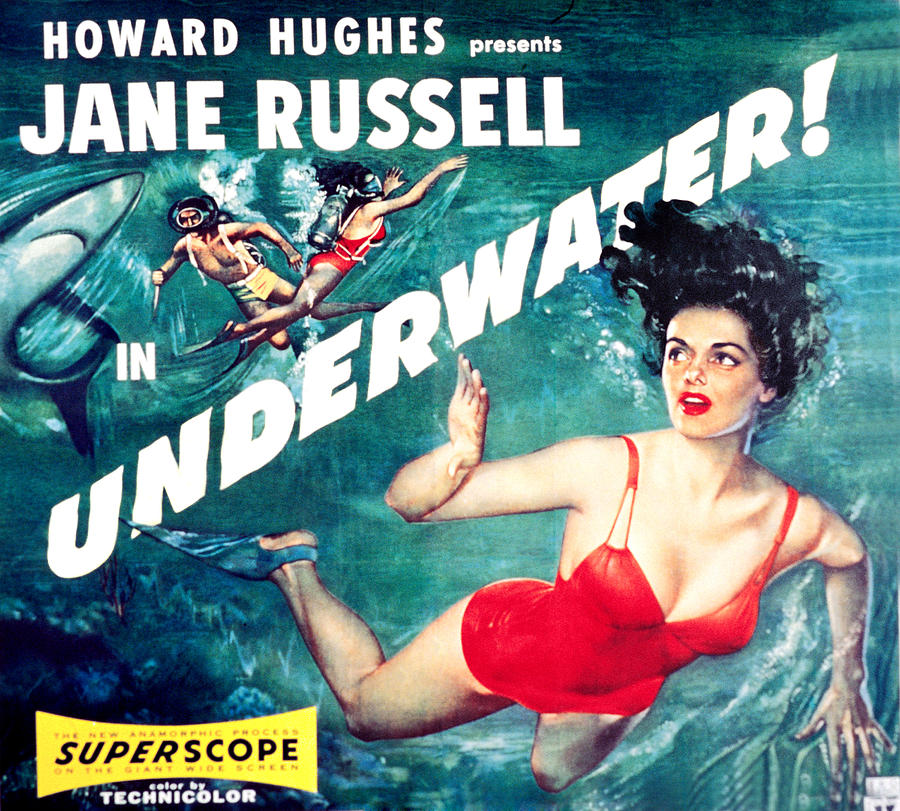 1950s Movies Photograph - Underwater, Jane Russell, 1955 by Everett