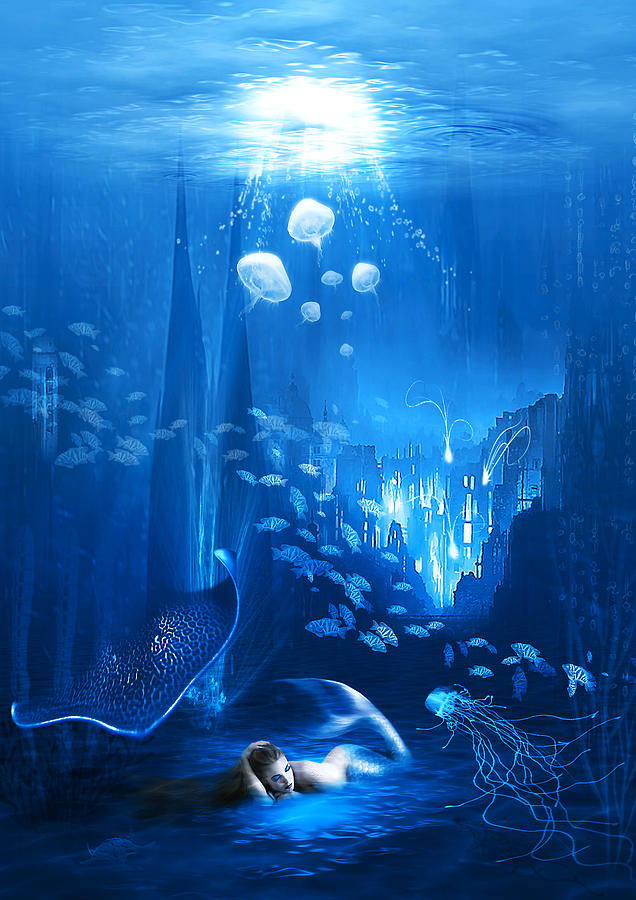 Underwater World Digital Art  - Underwater World Fine Art Print