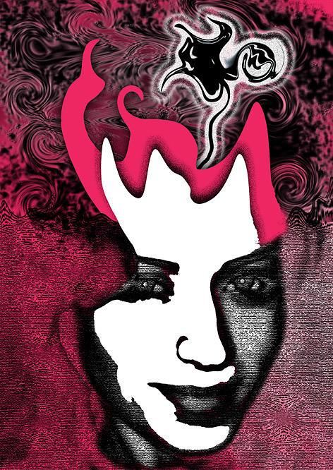 Portrait Digital Art - Unearthy by Nina Mirhabibi