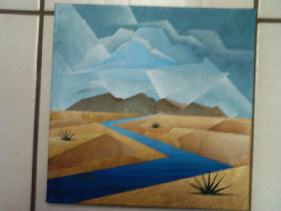 Unfinished Cubist Landscape PaintingUnfinished Landscape Painting