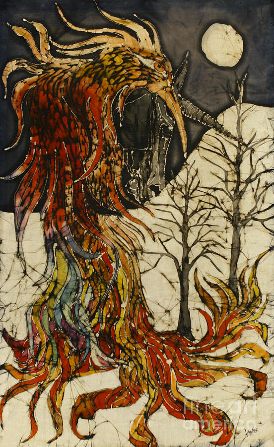 Unicorn And Phoenix Tapestry - Textile
