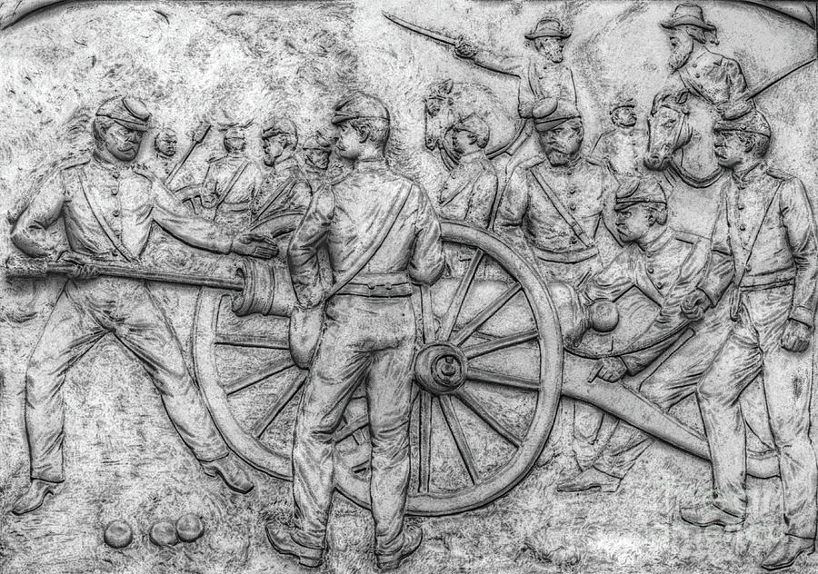 Union Artillery Civil War Drawing Digital Art  - Union Artillery Civil War Drawing Fine Art Print