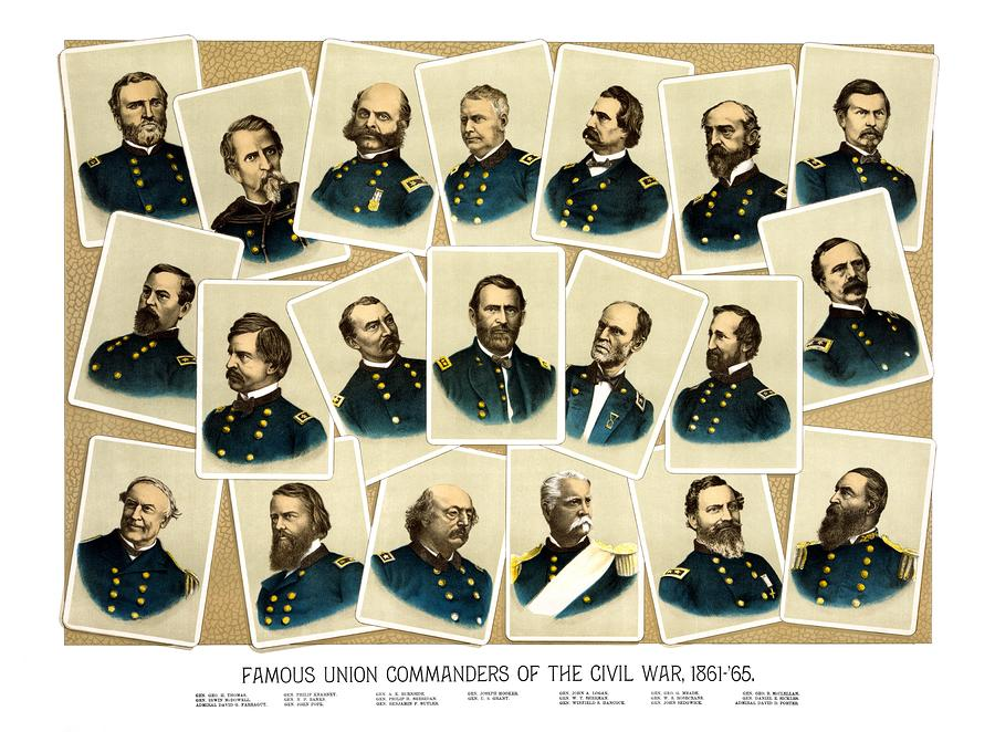 Union Commanders Of The Civil War Painting