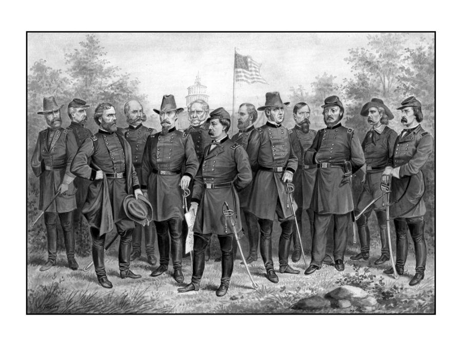 Union Generals Of The Civil War  Painting