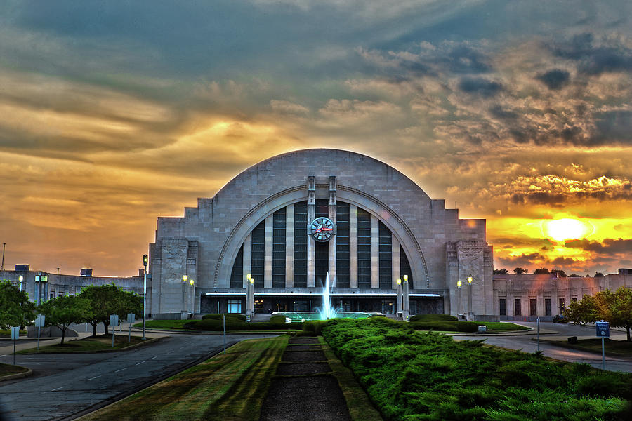 Union Terminal At Sunset Photograph