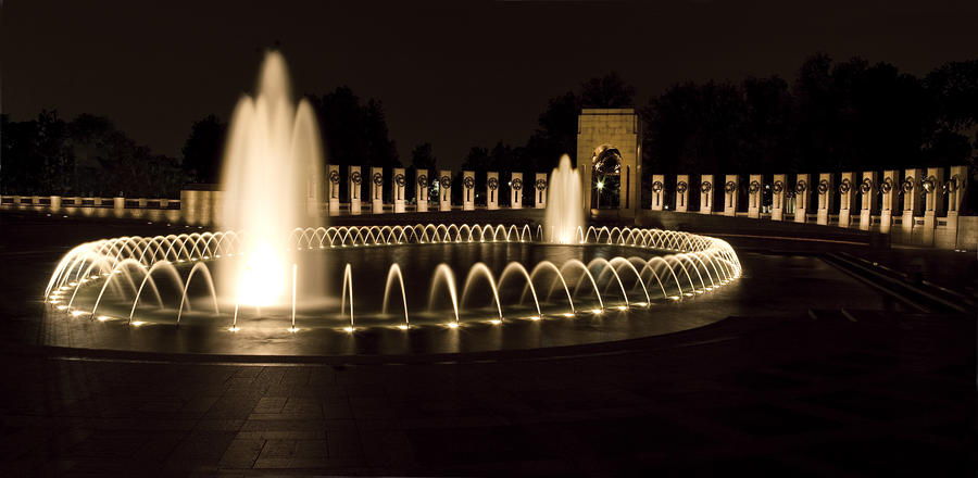 United States National World War II Memorial In Washington Dc Photograph