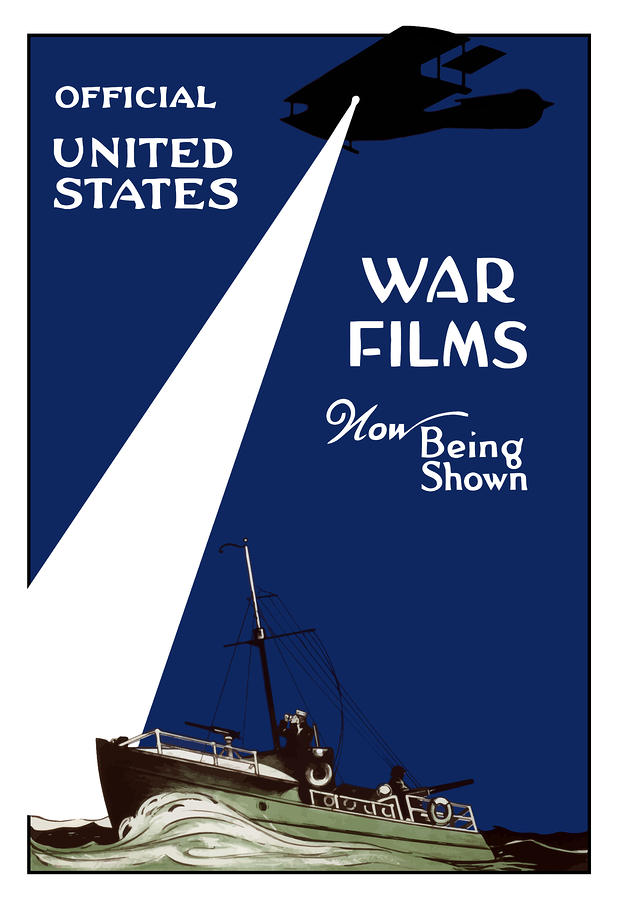 United States War Films Now Being Shown Painting  - United States War Films Now Being Shown Fine Art Print