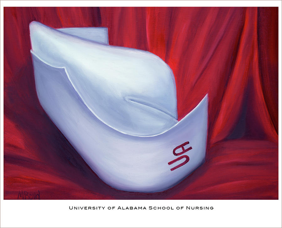 University Of Alabama School Of Nursing Painting  - University Of Alabama School Of Nursing Fine Art Print