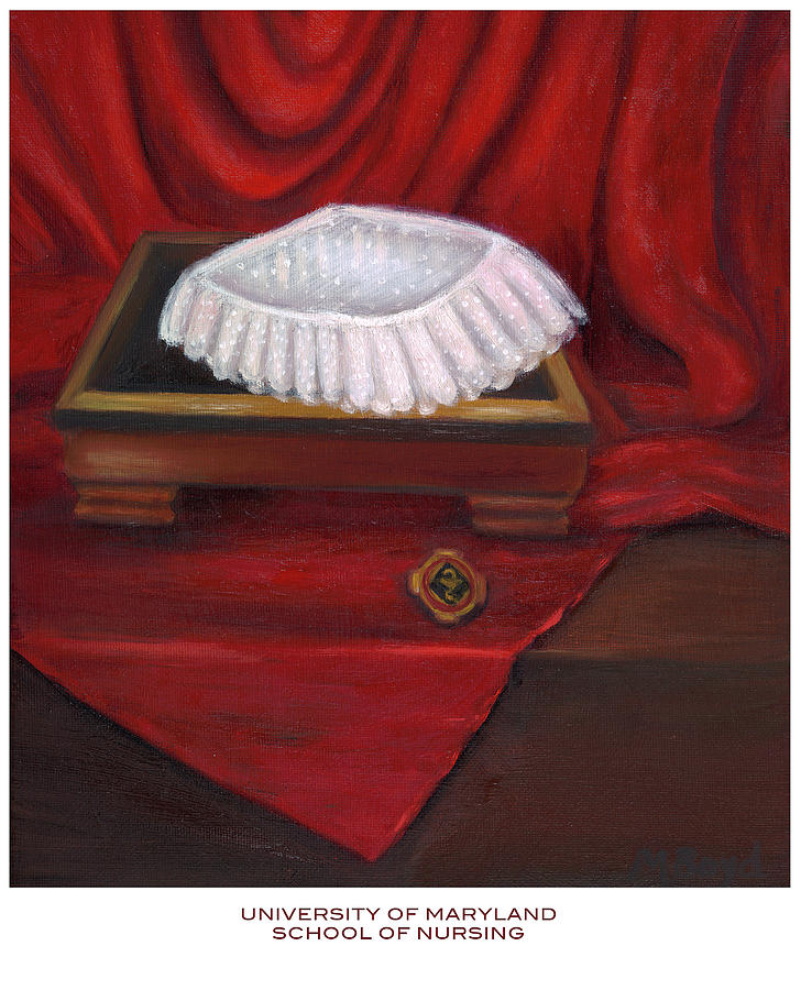 University Of Maryland School Of Nursing Painting  - University Of Maryland School Of Nursing Fine Art Print