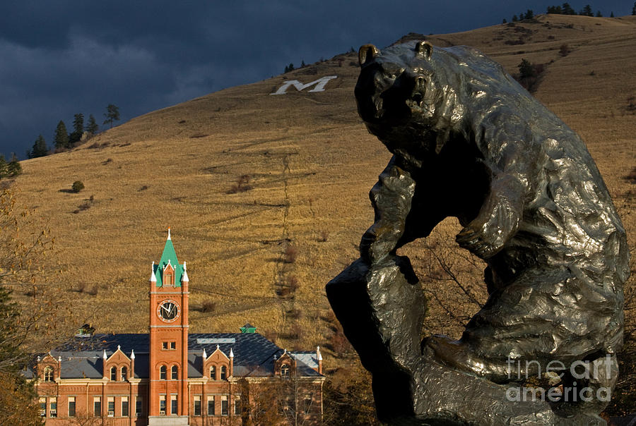 University Of Montana Icons Photograph  - University Of Montana Icons Fine Art Print