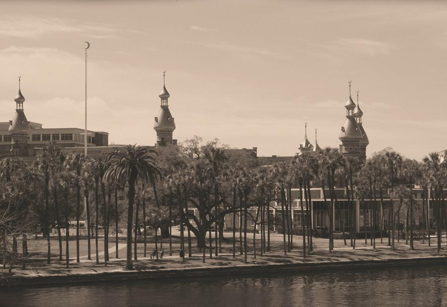 University Of Tampa With Old World Framing Photograph