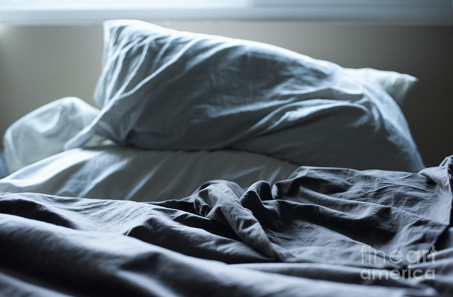 Unmade Bed Photograph
