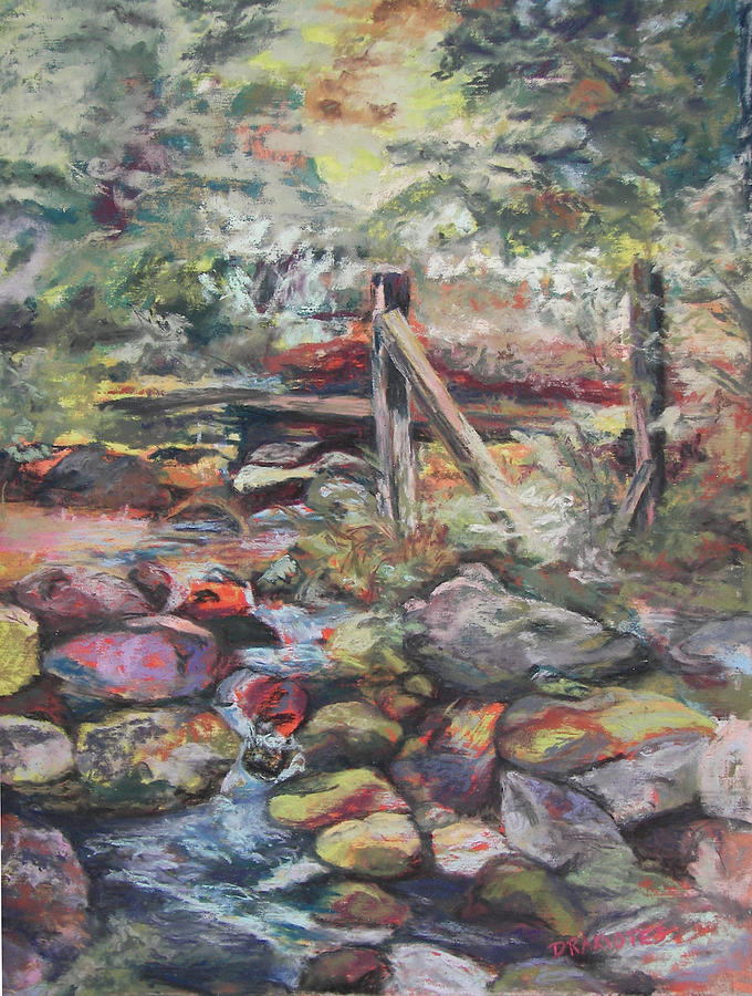 Unseated On Trout Brook Pastel  - Unseated On Trout Brook Fine Art Print