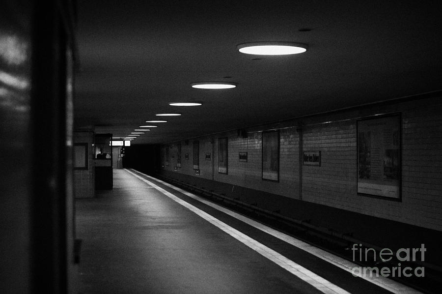 Unter Der Linden Ghost Station U-bahn Station Berlin Germany Photograph