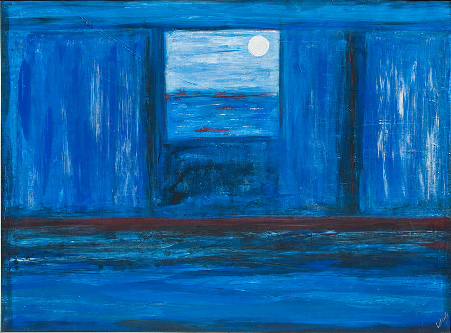 Untitled In Blue Painting