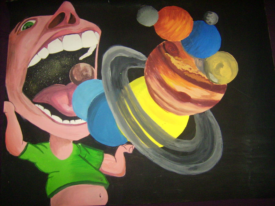 Up In Space Painting  - Up In Space Fine Art Print