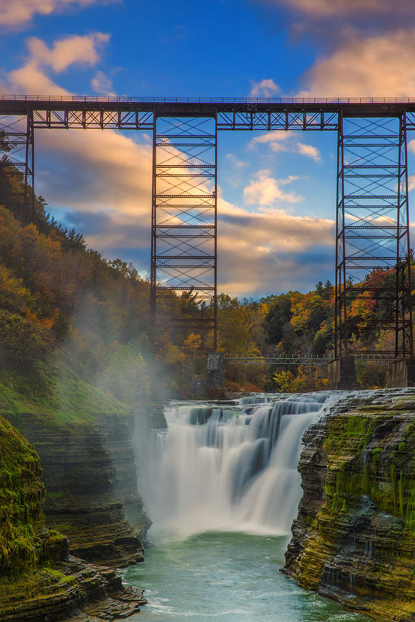Upper falls letchworth state park by rick berk for Beautiful places to visit in new york state