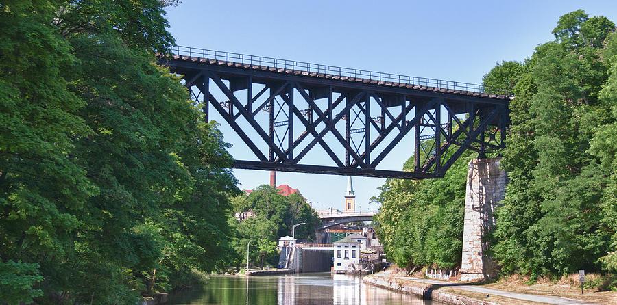 Bridges Photograph - Upside-down Railroad Bridge by Guy Whiteley