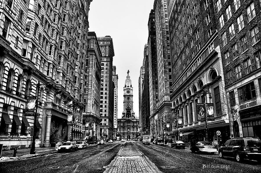 Urban Canyon - Philadelphia City Hall Photograph  - Urban Canyon - Philadelphia City Hall Fine Art Print