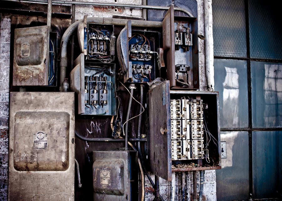 Urban Decay  Fuse Box Photograph  - Urban Decay  Fuse Box Fine Art Print