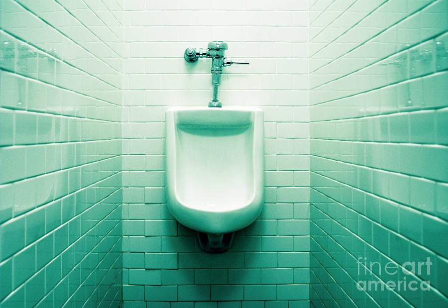 Urinal In Mens Restroom. Photograph  - Urinal In Mens Restroom. Fine Art Print