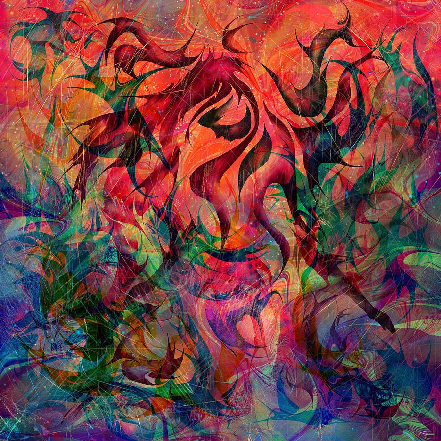 Urn Of The Fire Painting  - Urn Of The Fire Fine Art Print