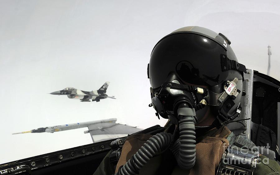 U.s. Air Force Pilot Takes Photograph