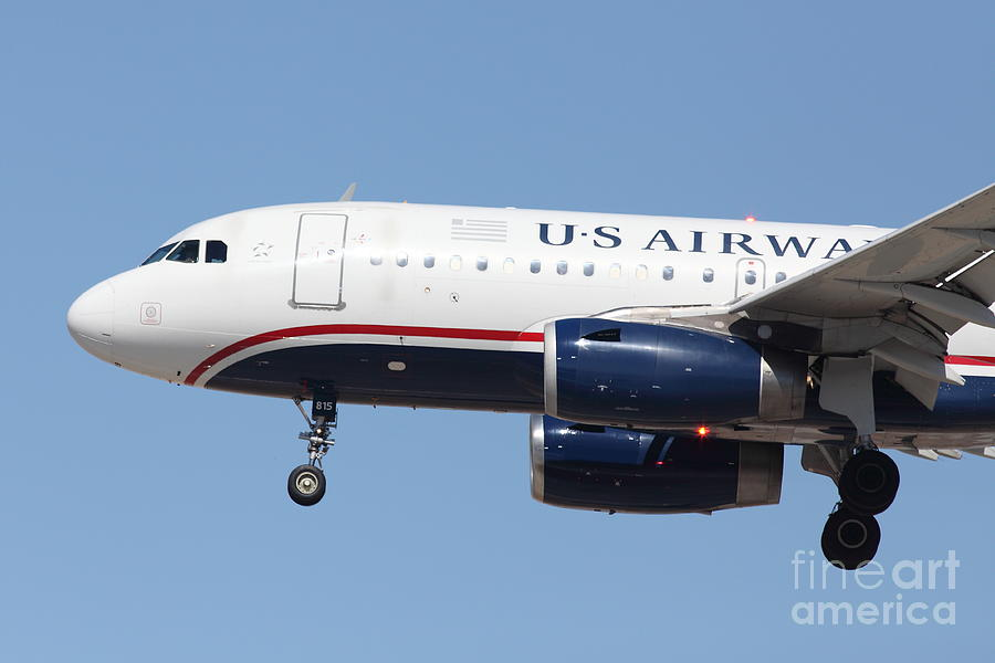 Airplane Photograph - Us Airways Jet Airplane  - 5d18394 by Wingsdomain Art and Photography