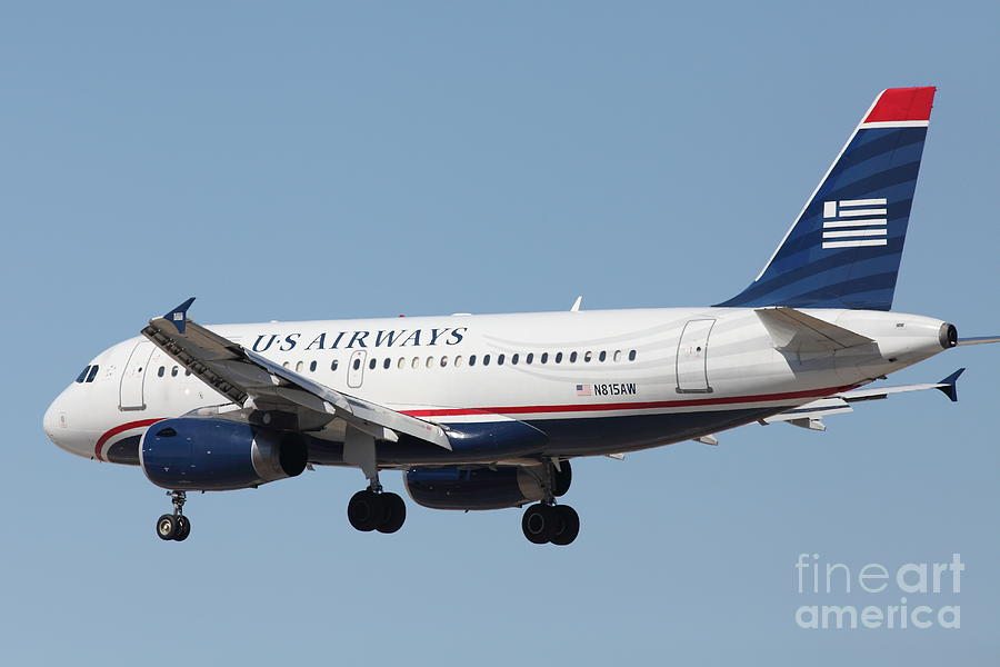 Us Airways Jet Airplane  - 5d18396 Photograph  - Us Airways Jet Airplane  - 5d18396 Fine Art Print