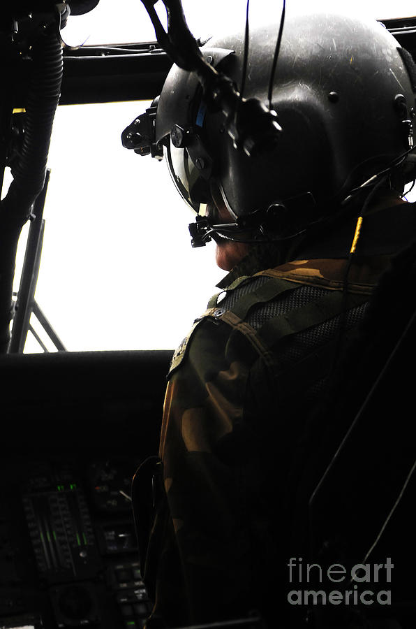 U.s. Army Officer Speaks To A Pilot Photograph