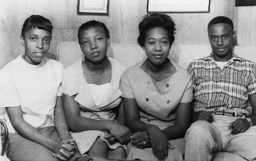 Us Civil Rights. From Left High School Photograph