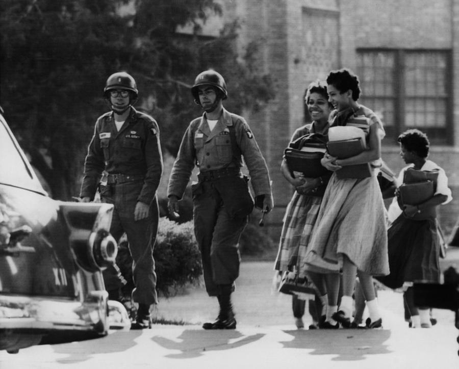 Us Civil Rights. Paratroopers Photograph