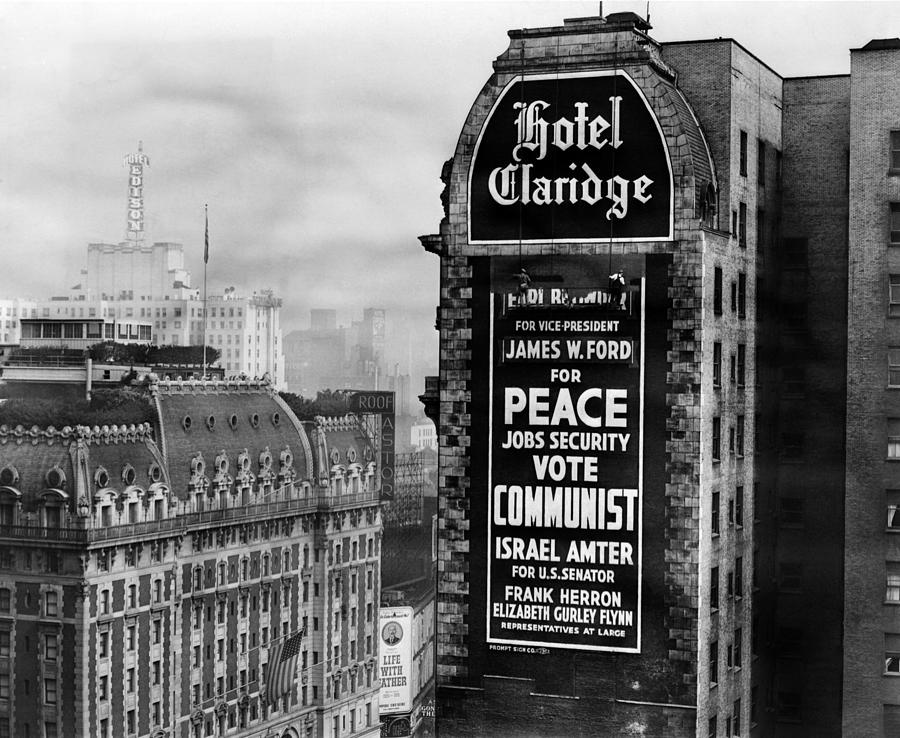 Us Communist Election Campaign Sign Photograph
