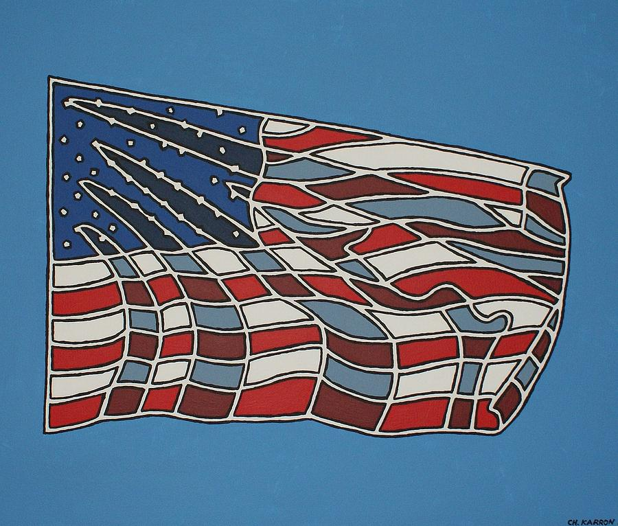 Us Flag Painting  - Us Flag Fine Art Print
