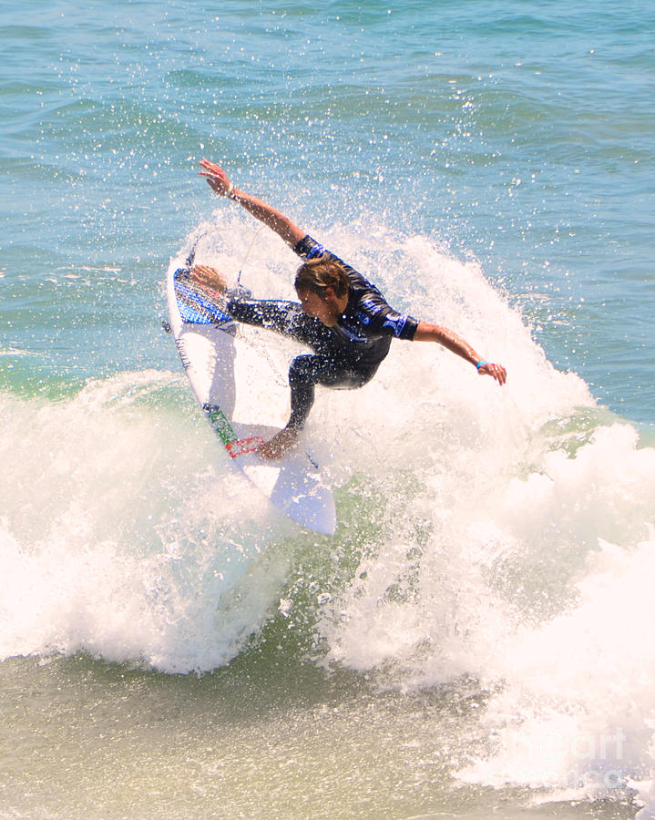 Kelly Slater Photograph - Us Open Of Surfing 2012      4 by Jason Waugh