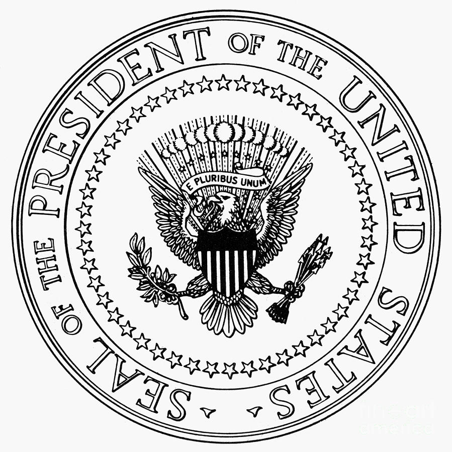 U S Presidential Seal Photograph By Granger Presidential Seal Coloring Page