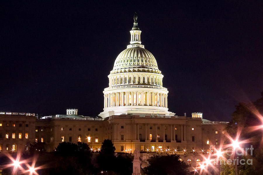 Usa Photograph - Us Senate by Syed Aqueel