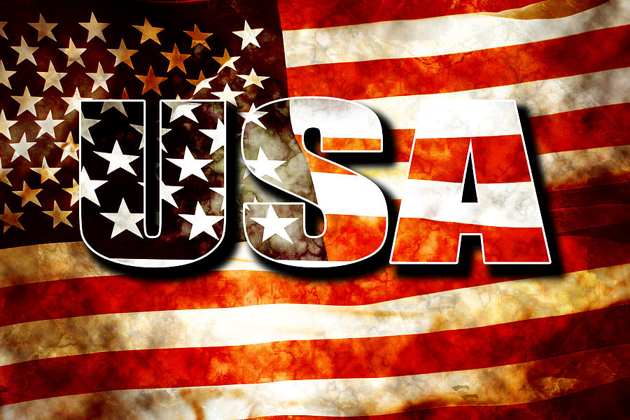 Usa Old Glory Flag Digital Art